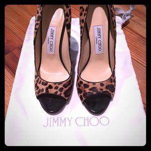 Jimmy Choo Peep Toe Wedges